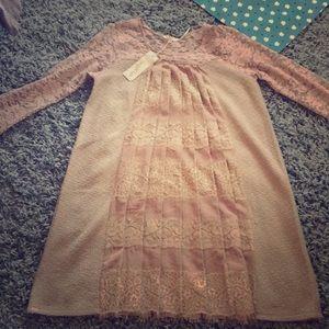 Lace Fan Dress